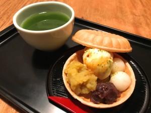 贅沢2種餡のサクサクモナカ&抹茶SET
